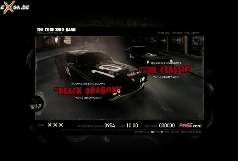 The Coke Zero Game - Fahrzeuge