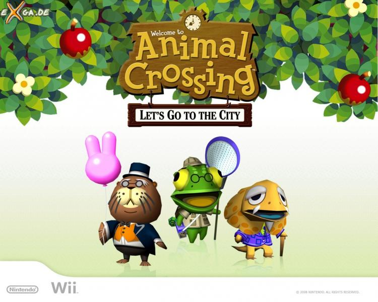 Animal Crossing: Let's Go To The City - WP_01_Wii_AnimalCrossing_1280x1024