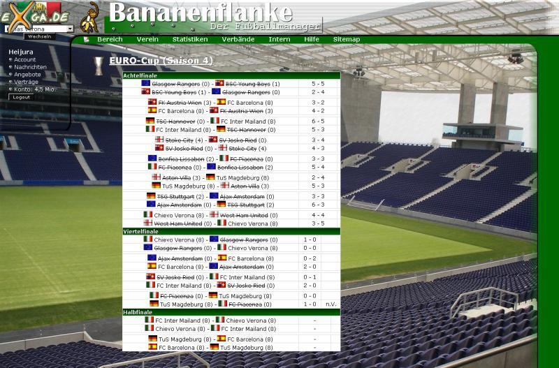 Bananenflanke - Der Fußballmanager - Ansicht-EURO-Cup