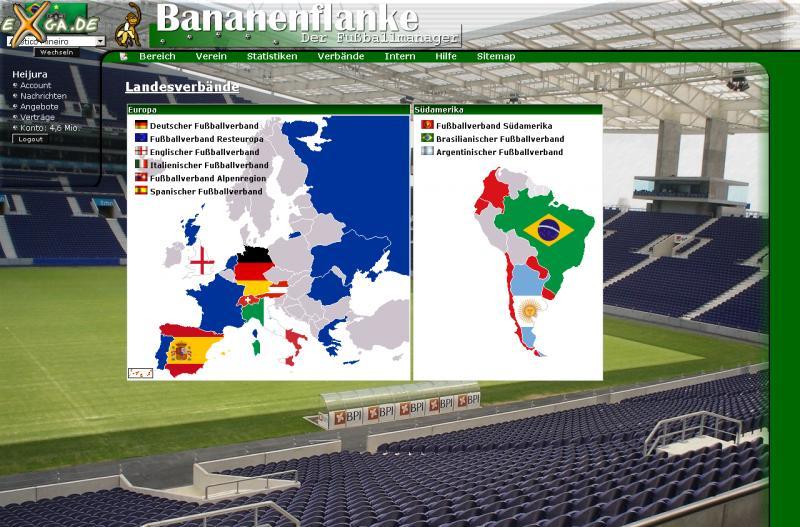 Bananenflanke - Der Fußballmanager - Landesverbandsübersicht