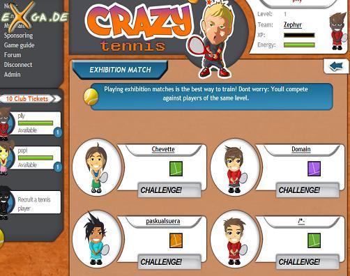 CrazyTennis - challenge