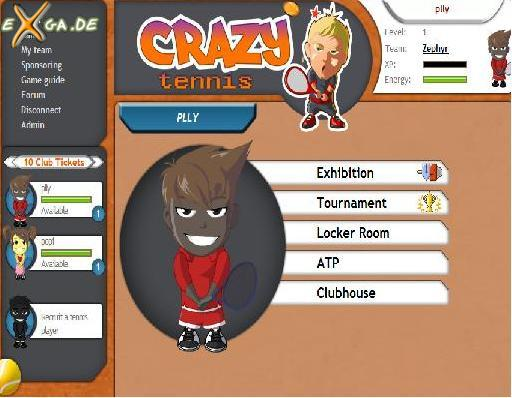 CrazyTennis - player