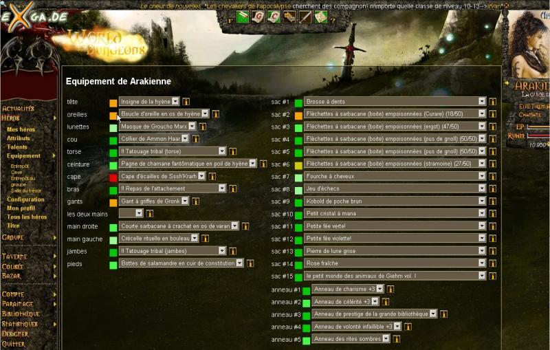 World of Dungeons - equipement
