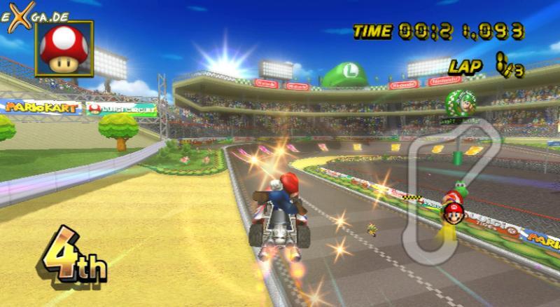 Mario Kart Wii - flying _mario