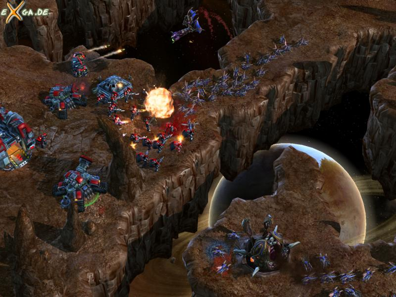 StarCraft II: Wings of Liberty - Mass_Zerglings_attack_entrenched_Terrans