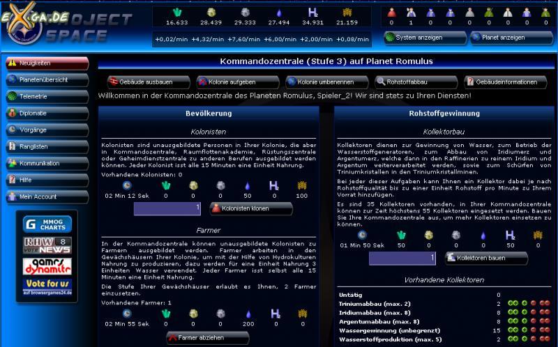 Project Space - kommandozentrale