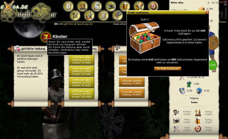 Knight War - kloster_screen