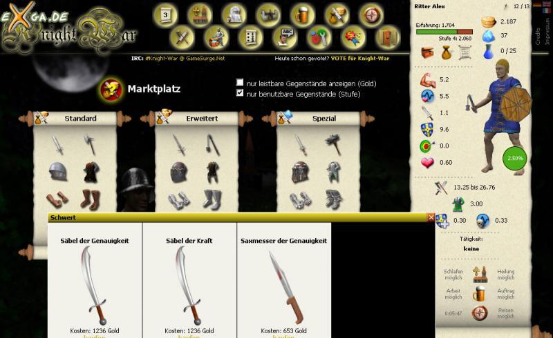 Knight War - markt_screen