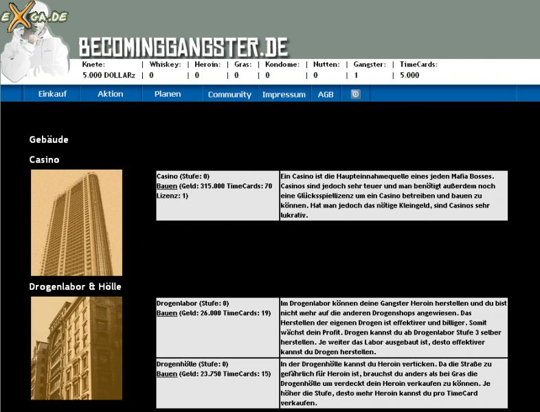 Becoming Gangster - Gebäude