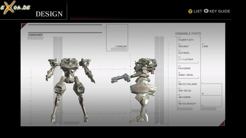 Armored Core For Answer - cust1 - light mech - choose design