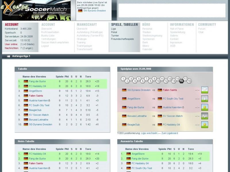 Soccer Match - League